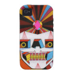 robot skull vibe iPhone 4 covers