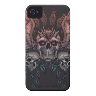 Robot Skull + Wings iPhone 4 Cover