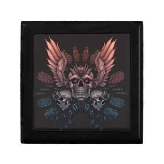 Robot Skull + Wings Keepsake Box