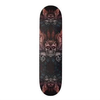 Robot Skull + Wings Skateboard Deck