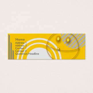 Robot Smiley Mini Business Card