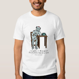 Robot solo w/Text Remeras