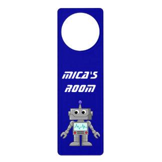 Robot sonriente colgadores para puertas