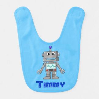 Robot sonriente divertido babero para bebé