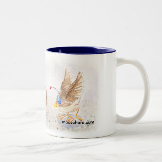 Robot Sparrows Two-Tone Coffee Mug