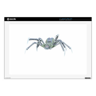 Robot Spider in Green and Silver Decal For Laptop