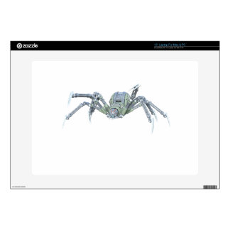 Robot Spider in Green and Silver Laptop Decals