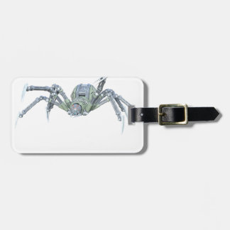 Robot Spider in Green and Silver Luggage Tag