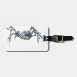 Robot Spider In Grey, Red and Silver Bag Tag