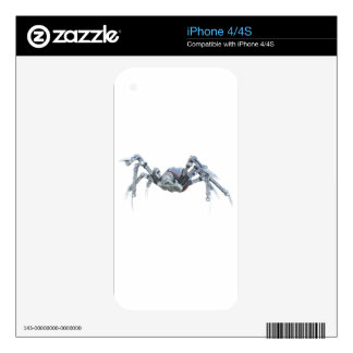 Robot Spider In Grey, Red and Silver iPhone 4S Decal