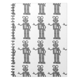 robot spiral notebook