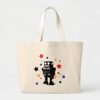 Robot Star Canvas Bags