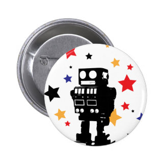 Robot Star Pinback Buttons