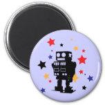 Robot Star Fridge Magnet