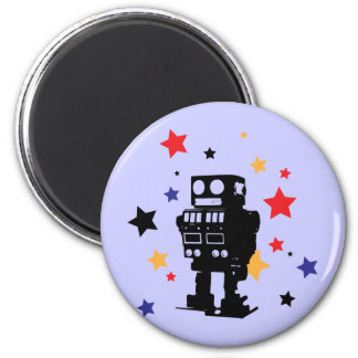 Robot Star Fridge Magnet