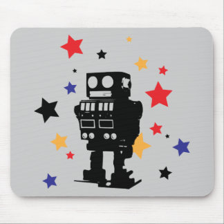 Robot Star Mouse Pads