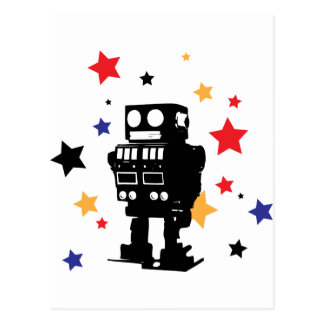 Robot Star Postcard