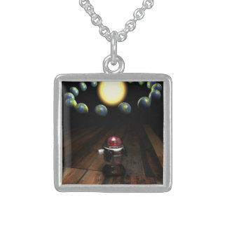 Robot Sterling Silver Necklace