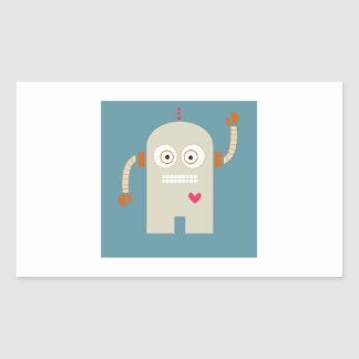 Robot Rectangular Sticker