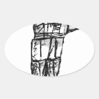 Robot Oval Sticker