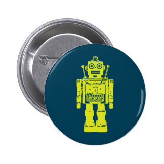 Robot Sticker Pinback Button