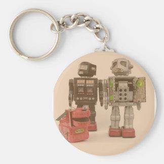 Robot Suburbia Basic Round Button Keychain
