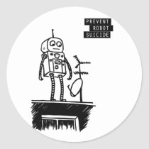 Robot Suicide Sticker