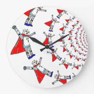 Robot Superhero Wall Clock