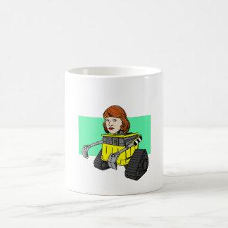 Robot Sylvia Plath Classic White Coffee Mug