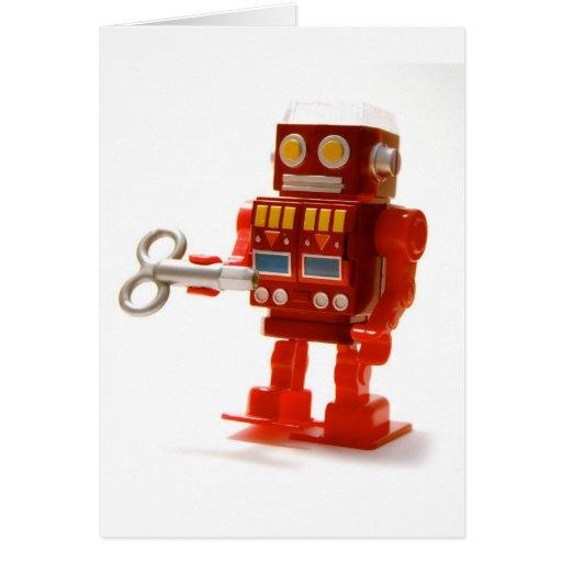 robot tarjeta de felicitación