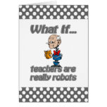robot teachers greeting cards