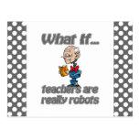 robot teachers postcard