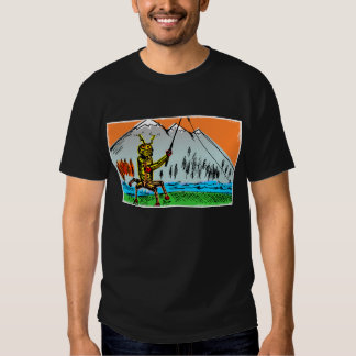 Robot Tenkara Fishing in Autumn - Front Tee Shirt