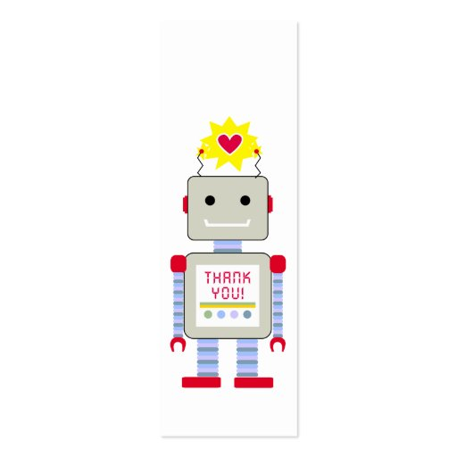 Robot Thank Gift Tags Business Card