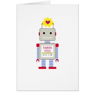 Robot Thank You Cards