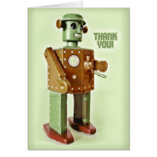 ROBOT THANKS CARD