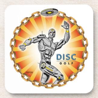Robot Thrower #2 Beverage Coaster