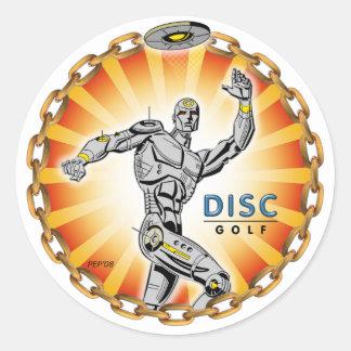 Robot Thrower #2 Classic Round Sticker