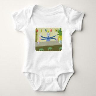 Robot Tiki Bar Bartender Baby Bodysuit