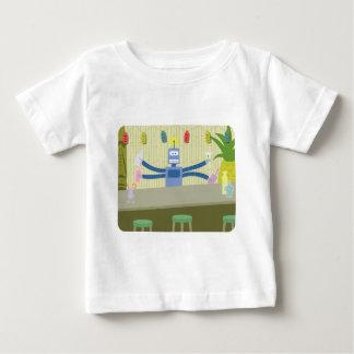 Robot Tiki Bar Bartender Baby T-Shirt