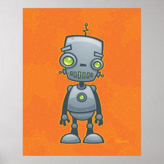 Robot tonto póster