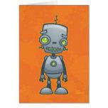 Robot tonto tarjeta de felicitación
