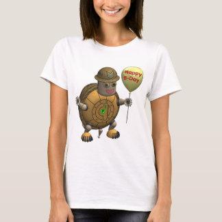 Robot Tortoise Happy Birthday T-Shirt