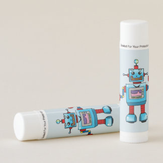 robot toy lip balm
