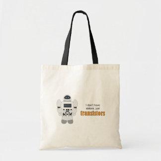 Robot Transistors Canvas Bags