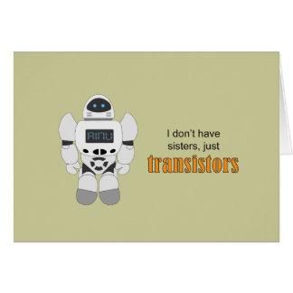 Robot Transistors Card