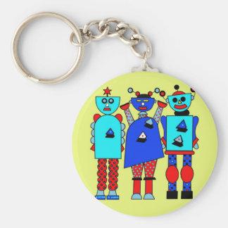 Robot Trio Keychain