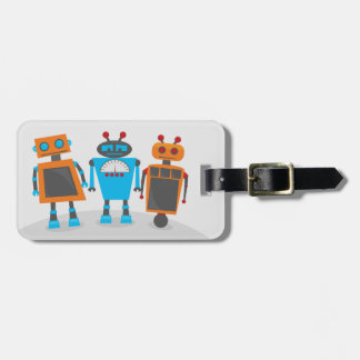Robot Trio Bag Tag