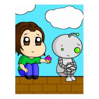 Robot triste postales