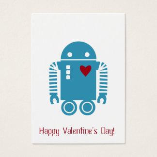 Robot Valentine - Blue Business Card